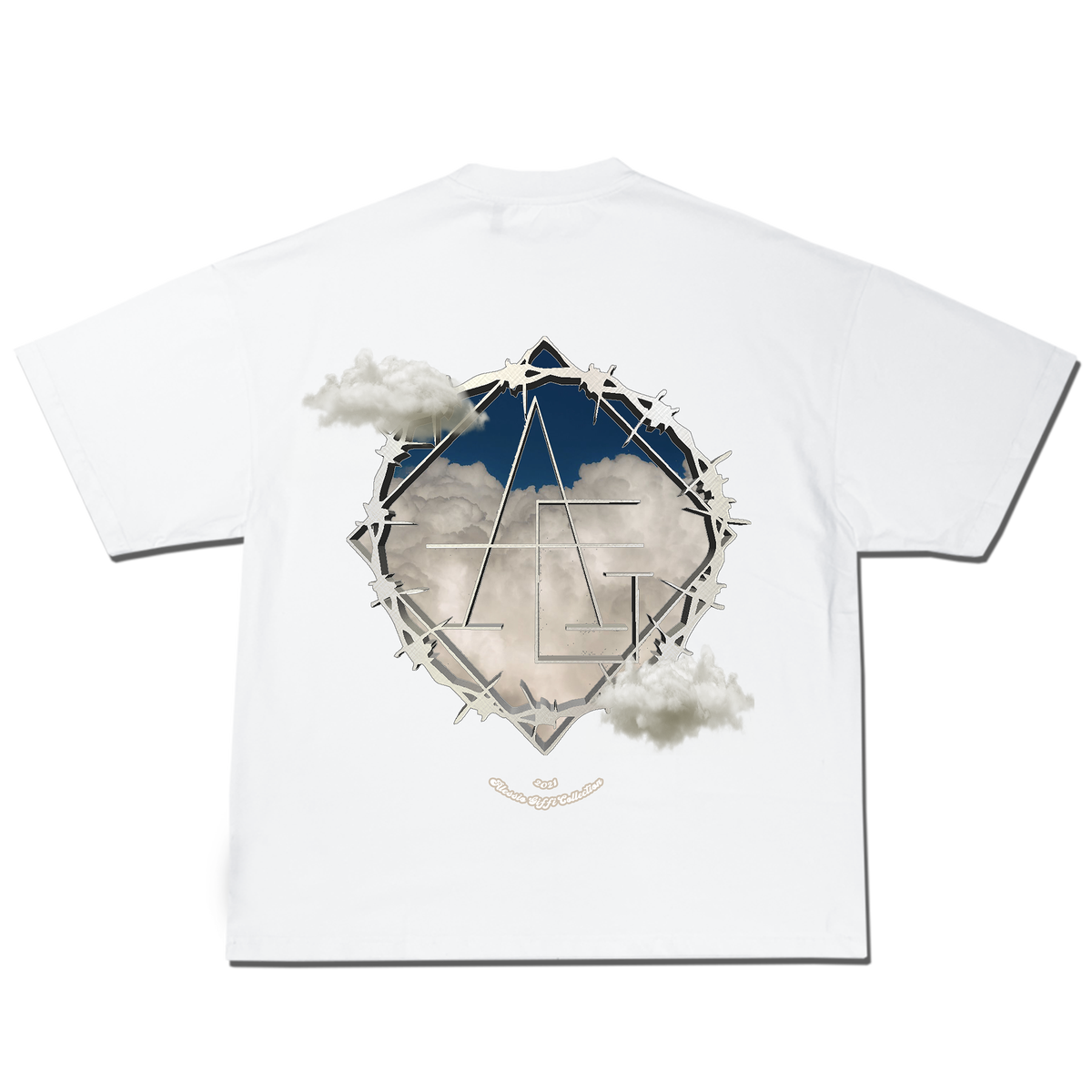 Image of Clouds logo tee - BOXYFIT