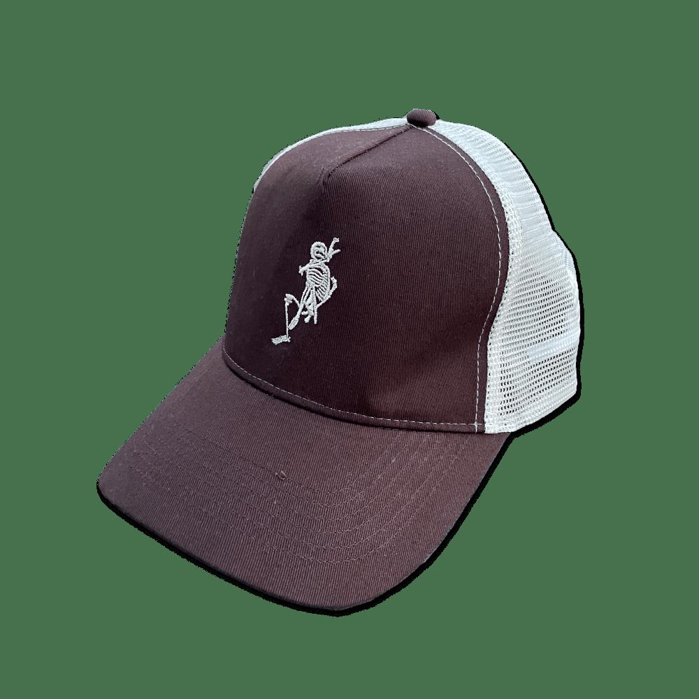 Image of Bones chocolate 🍫 trucker hat