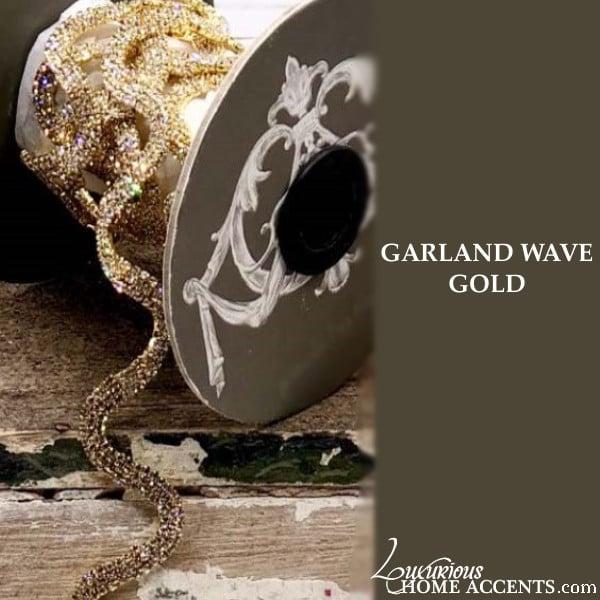 Image of Sparkling Crystal Wave Garland Gold