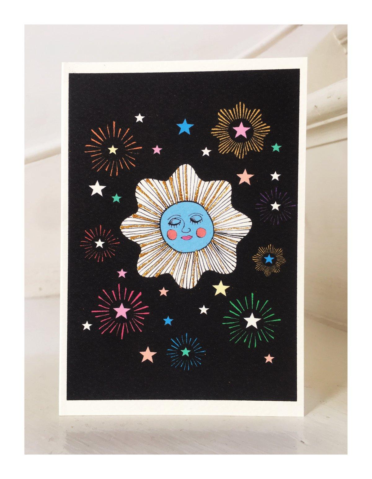 Sleeping Firework Card