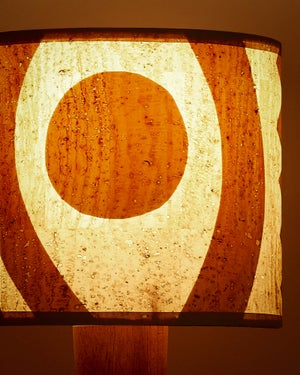 """Lampshade 8"""" - Halo in Cork"""