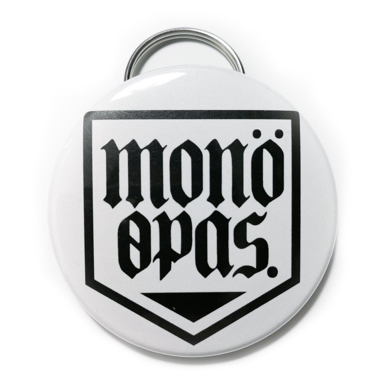Image of Shield logo - Ανοιχτήρι μπρελόκ (Λευκό)