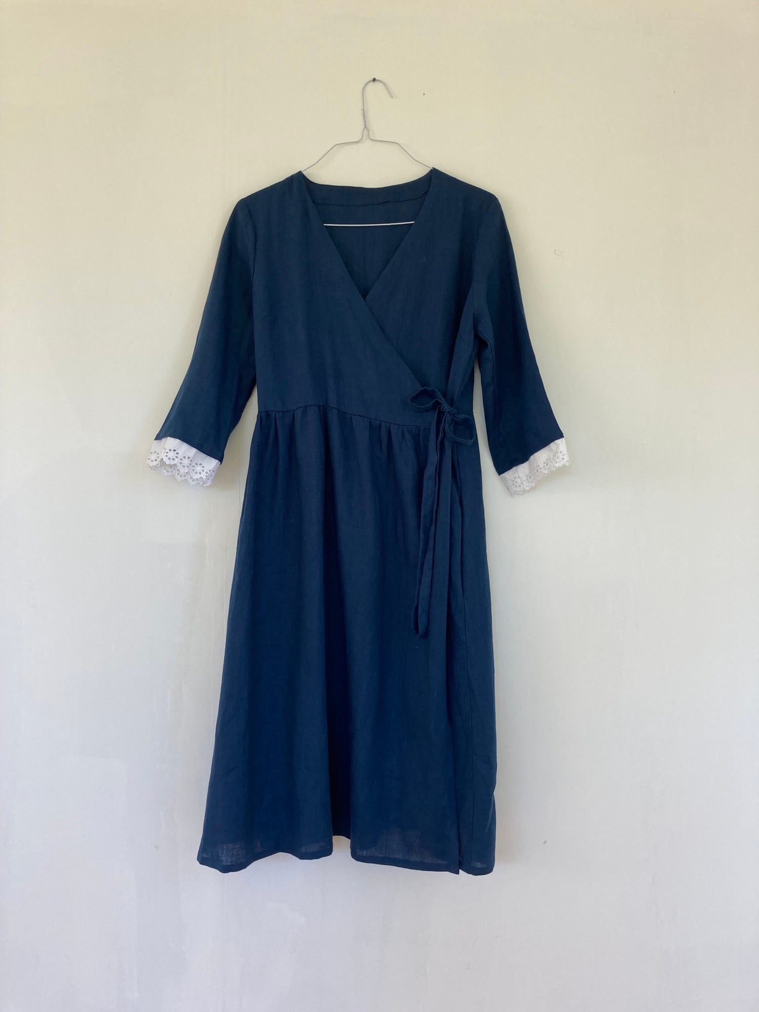 Image of Agnes Navy Linen