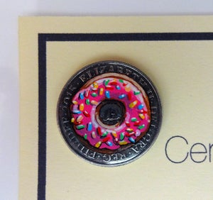 Image of Real Coin Original. Simpsons Donut 10p coin.