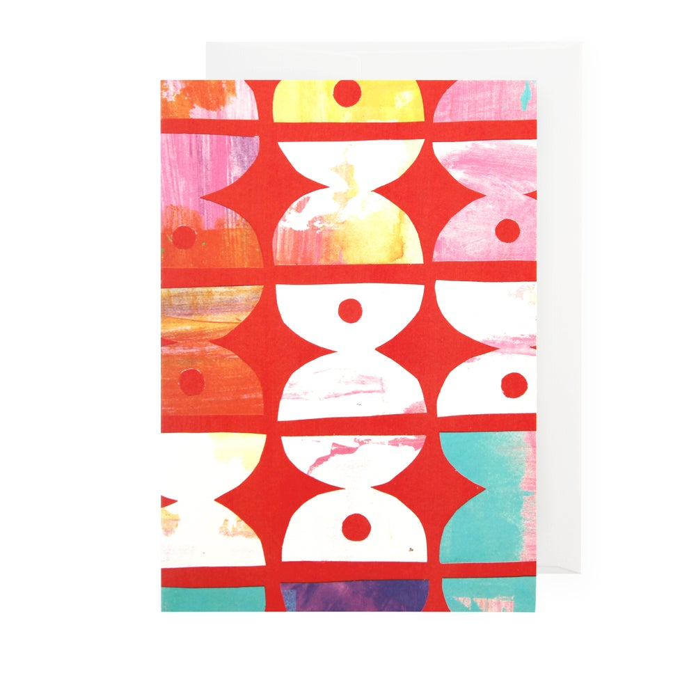Image of Single card - curious dots