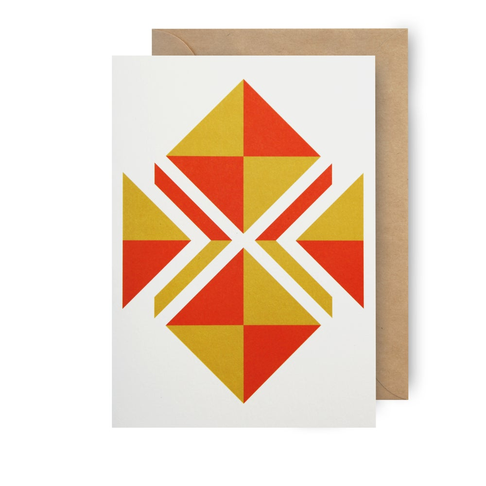 Image of Single card - flying kite