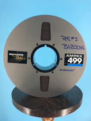 """Image of Ampex 499 2"""" x 2500' Reel Tape On 10.5"""" Precision Reel  in  Box One Pass With Leader -Used"""