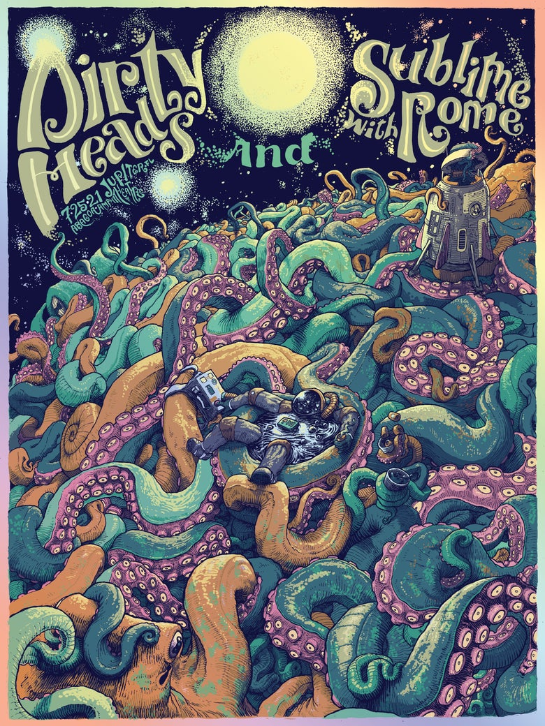 Image of Dirty Heads / Sublime With Rome - 7.25.21 Jupiter FL (FOIL Edition)