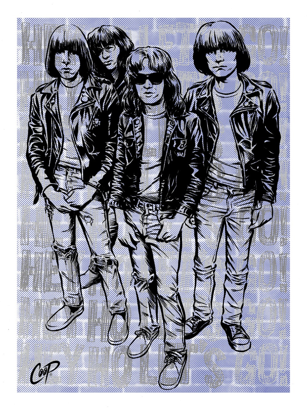 Image of HEY HO LET'S GO (Carbona Not Glue Edition) Silkscreen Print