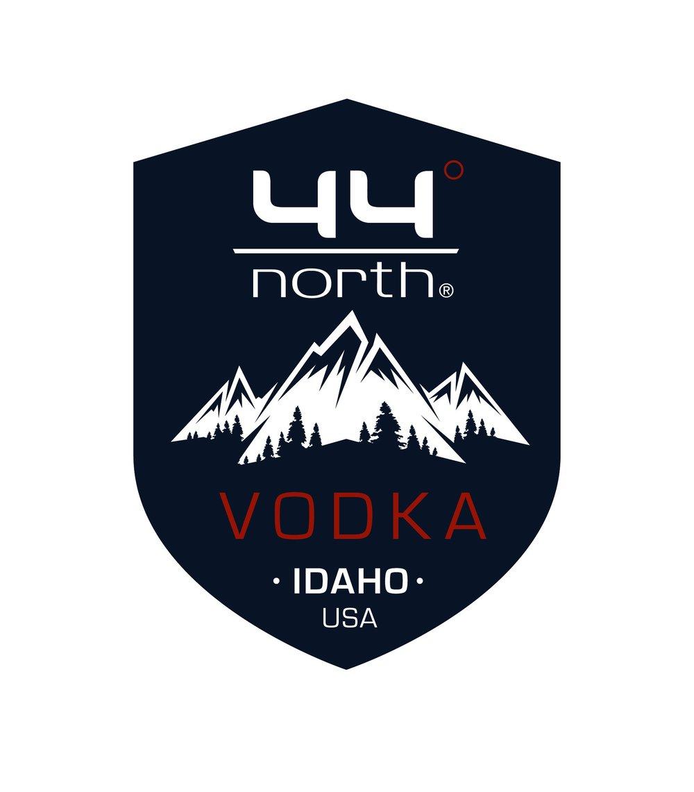 44° North Vodka Metal Shield sign