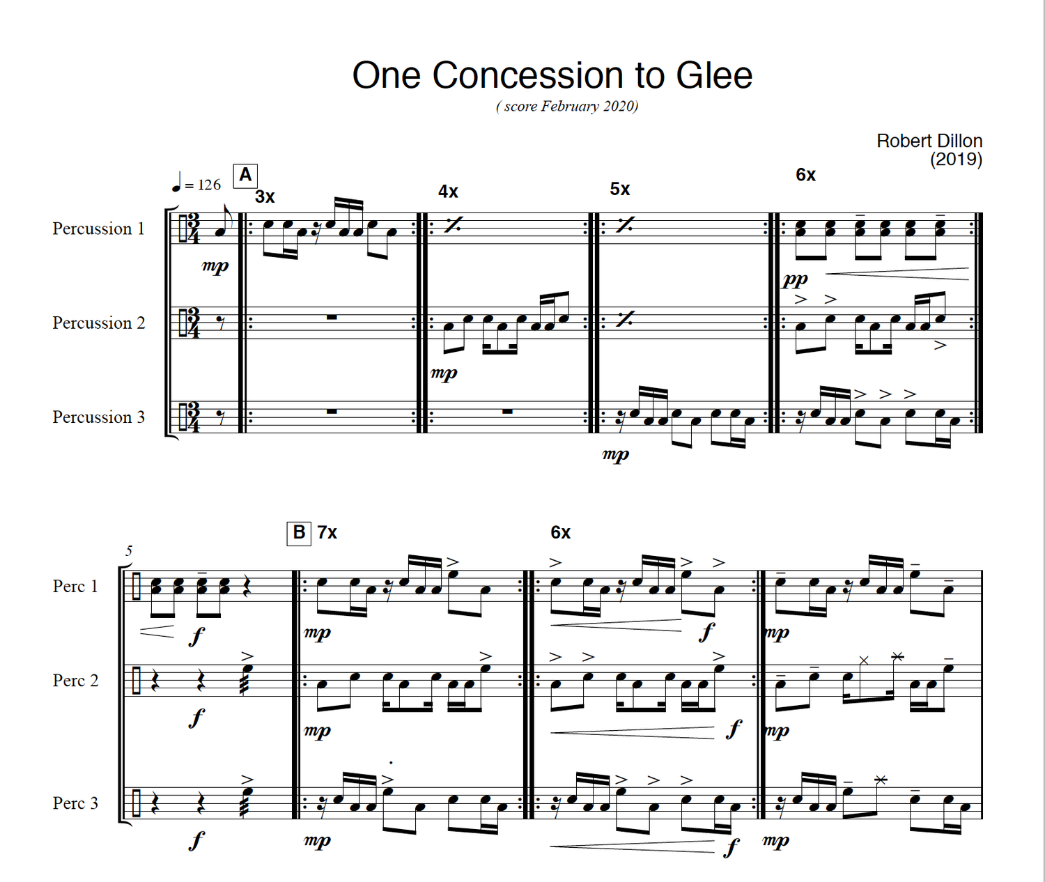 Image of One Concession to Glee - Score and Parts