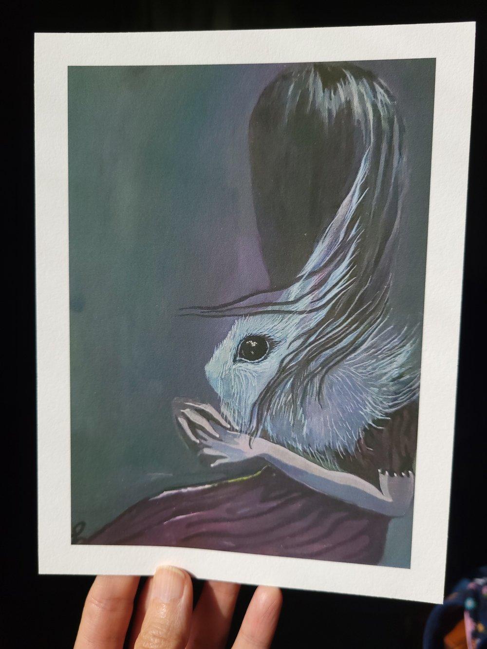 Image of Dark, dark bunny Print