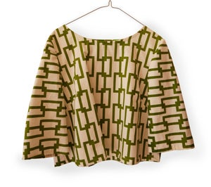 Image of Chain Design Peasant Blouse