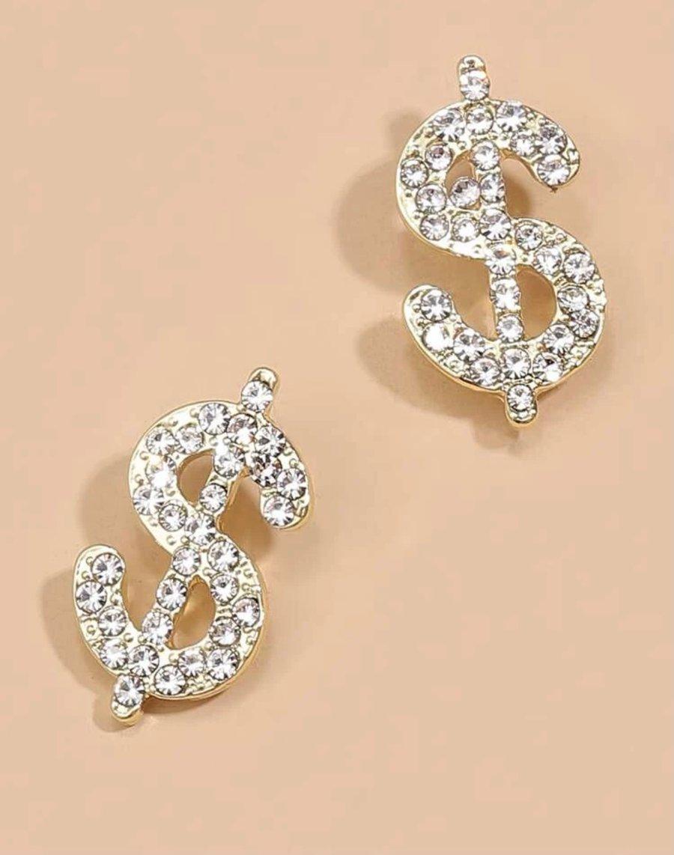 Image of Mucho Dinero stud earrings