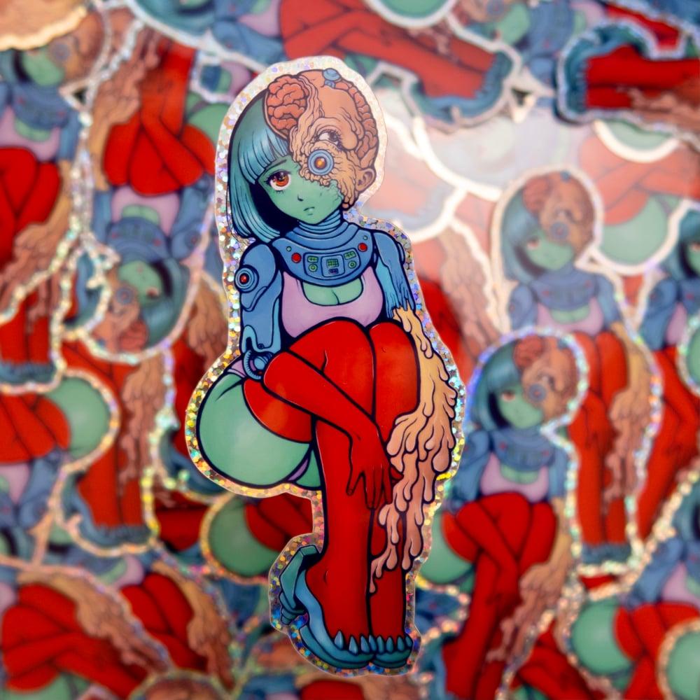Image of ParanoidX Girl Sticker - Glitter