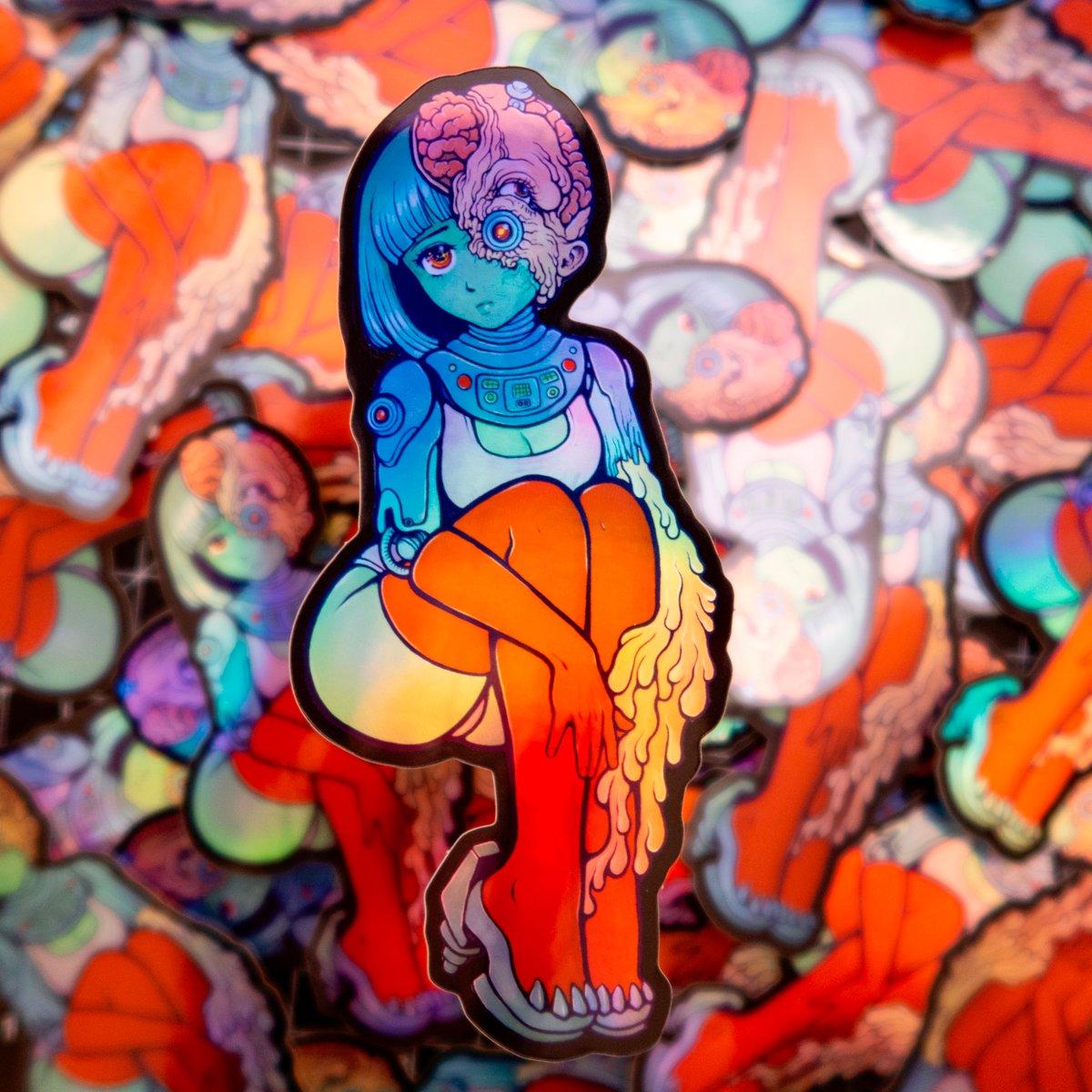 Image of ParanoidX Girl Sticker - Holographic