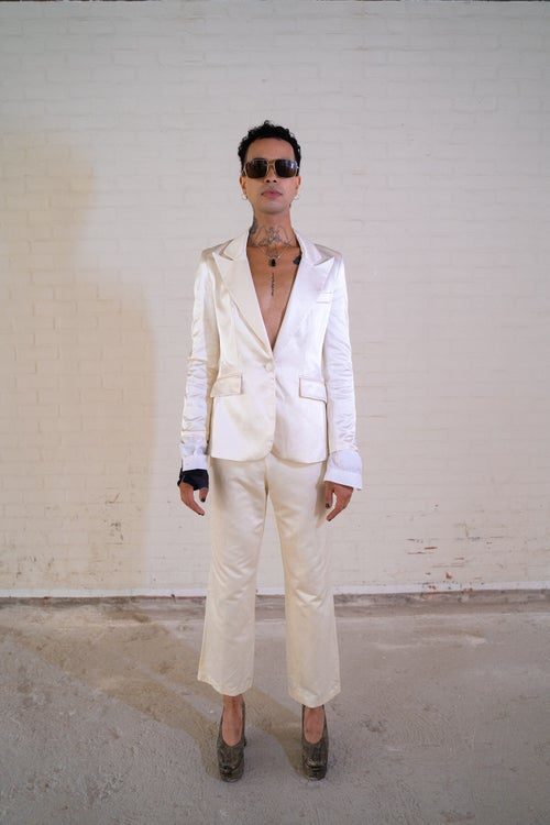 Image of Koton' Creme Blazer with Attached Sleeves