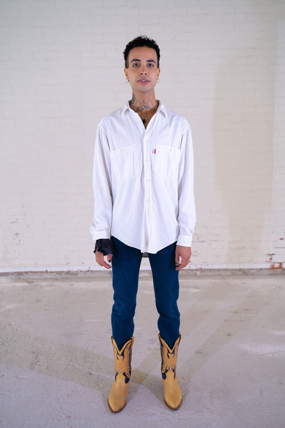 Image of Levi Strauss' White Button Down Blouse