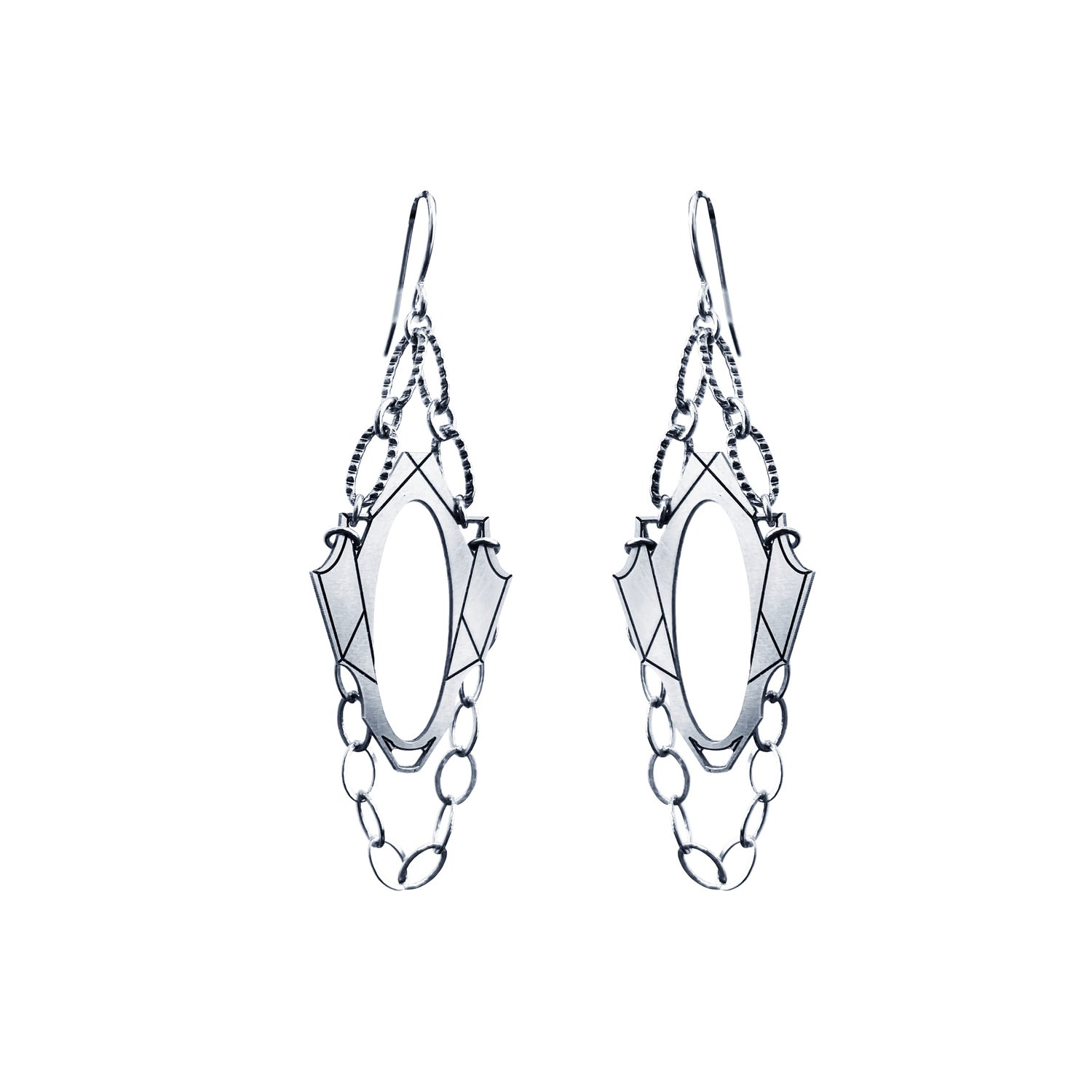 Image of Boucles rock baroque silver