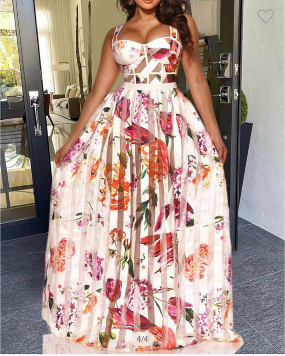Image of Floral Mesh Maxi