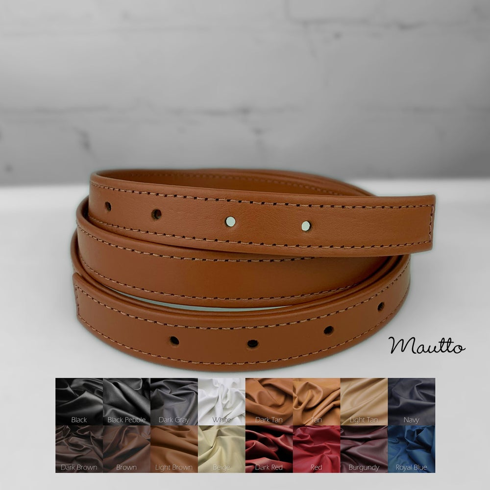 Image of Adjustable Length Leather Strap - Punched Holes on Ends - 3/4 inch Wide - Choose Length & Color
