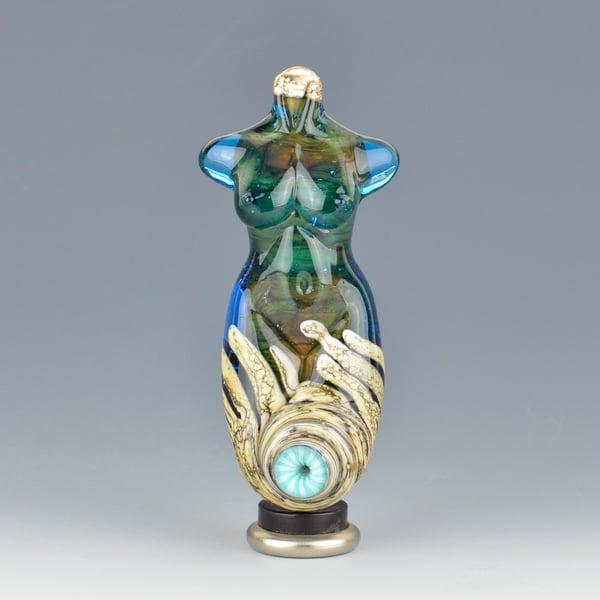 Image of XXL. Birthstone Goddess - Flamework Glass Sculpture Bead