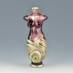 Image of XXL. Amethyst Goddess - Flamework Glass Sculpture Bead