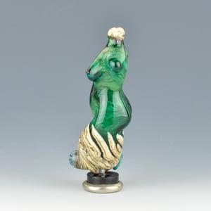 Image of XXL. Teal Seas Goddess - Flamework Glass Sculpture Bead