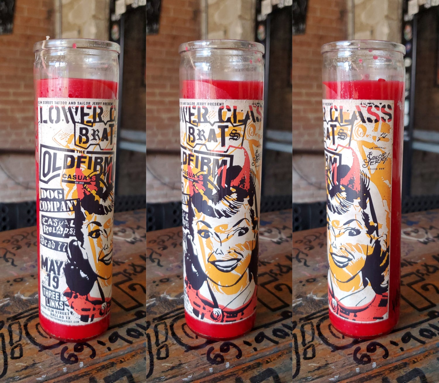 Lower Class Brats, Old Firm Casuals Candle