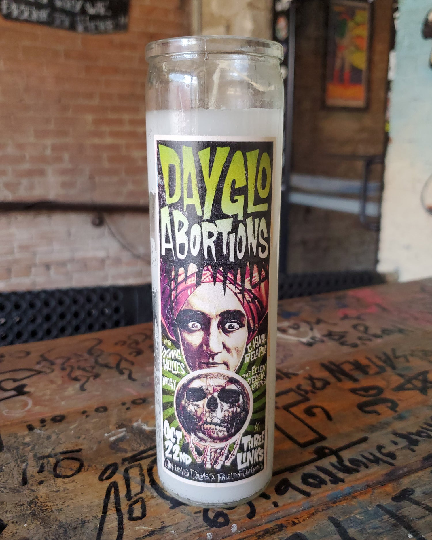 Dayglo Abortions Candle