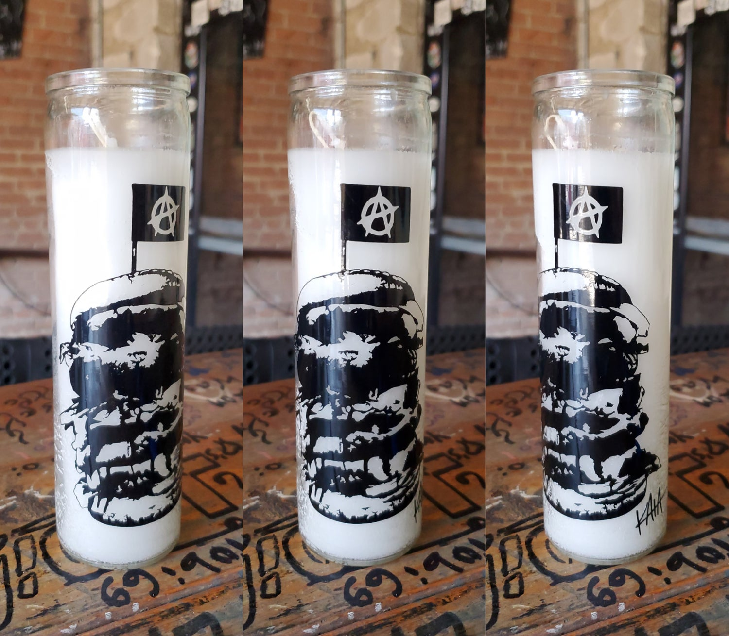 Anarchy Burger Candle