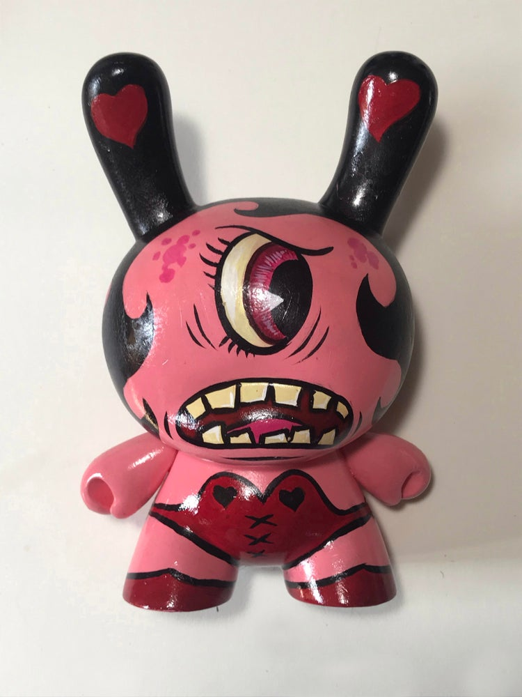 """Image of Frank Forte """"Sexy Pink Cyclops Dunny #1"""" 8"""""""
