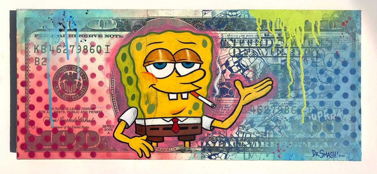 """Image of Dr. Smash """"Spongebob on a C-Note"""""""