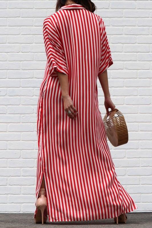 Red Stripe Dress