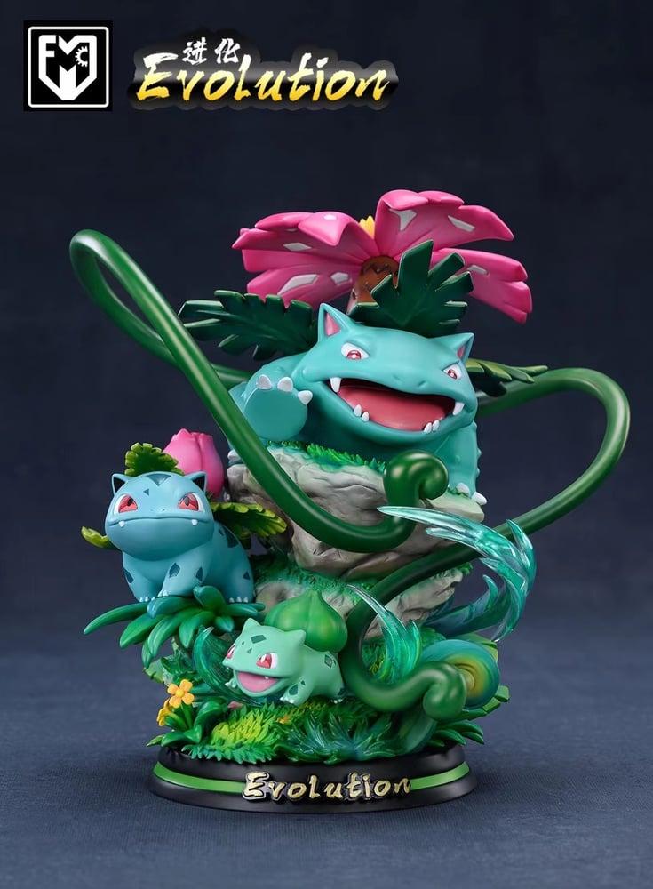 Image of [Pre-Order]Pokemon MFC Studio Evolution Series Bulbasaur Venusaur Ivysaur Resin Statue