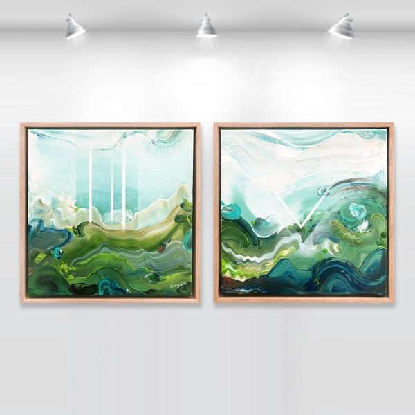 Image of Country no.44 - diptych, FRAMED