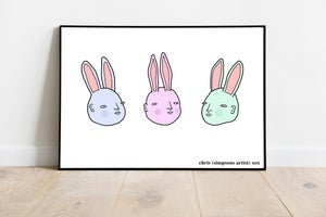 Image of bunny friends- poster