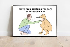 Image of turn yourself into a dog- poster
