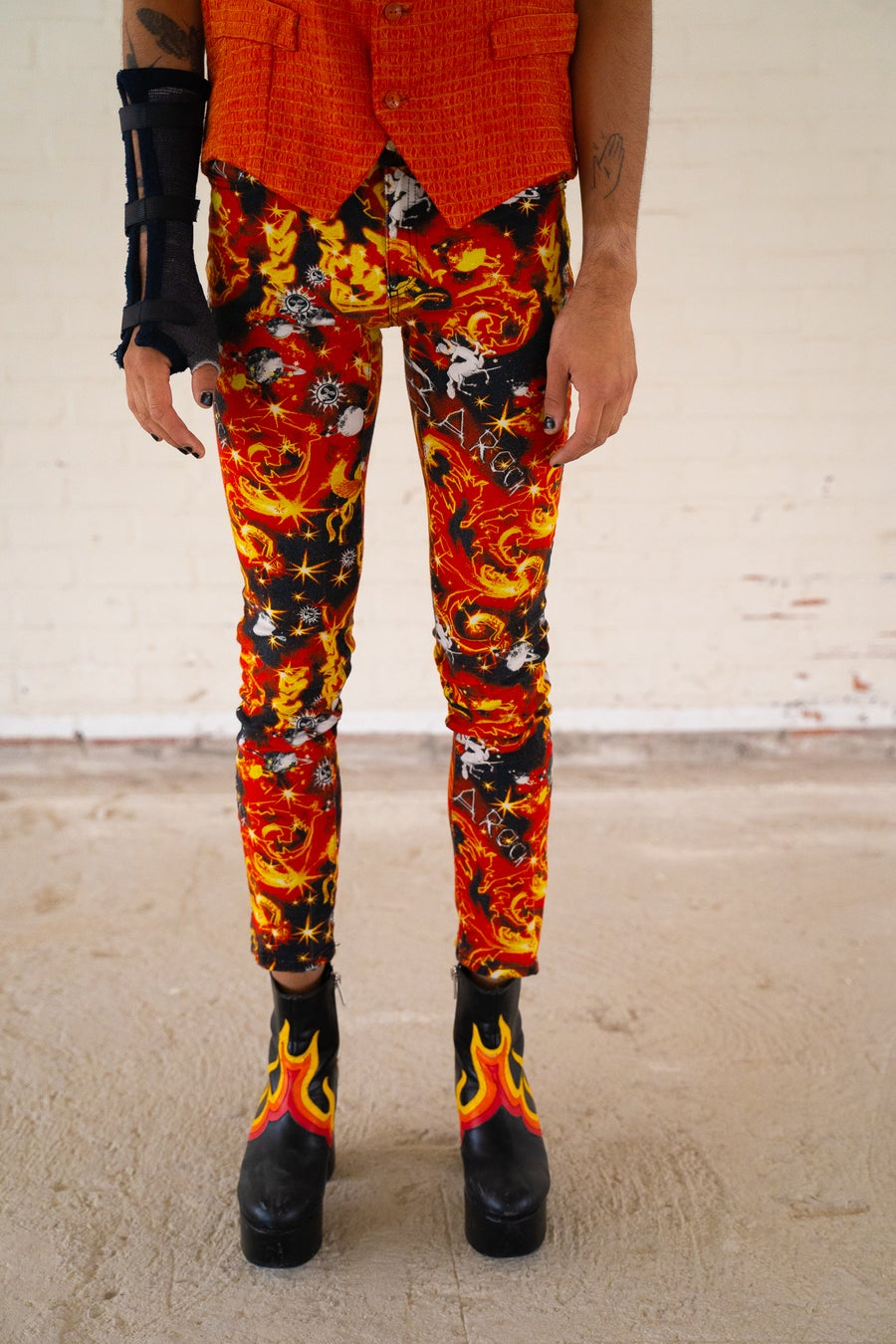 Image of Versace Jeans Printed Trousers
