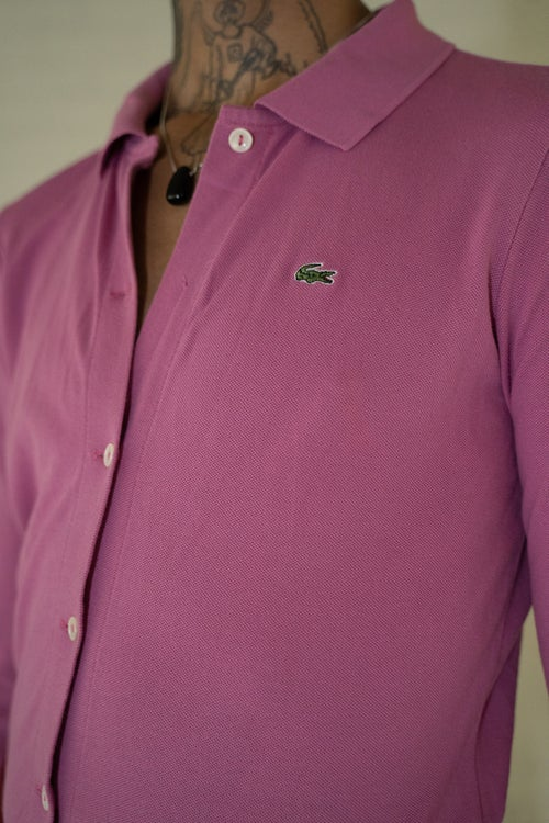 Image of 'Lacoste' Pink Long Sleeve