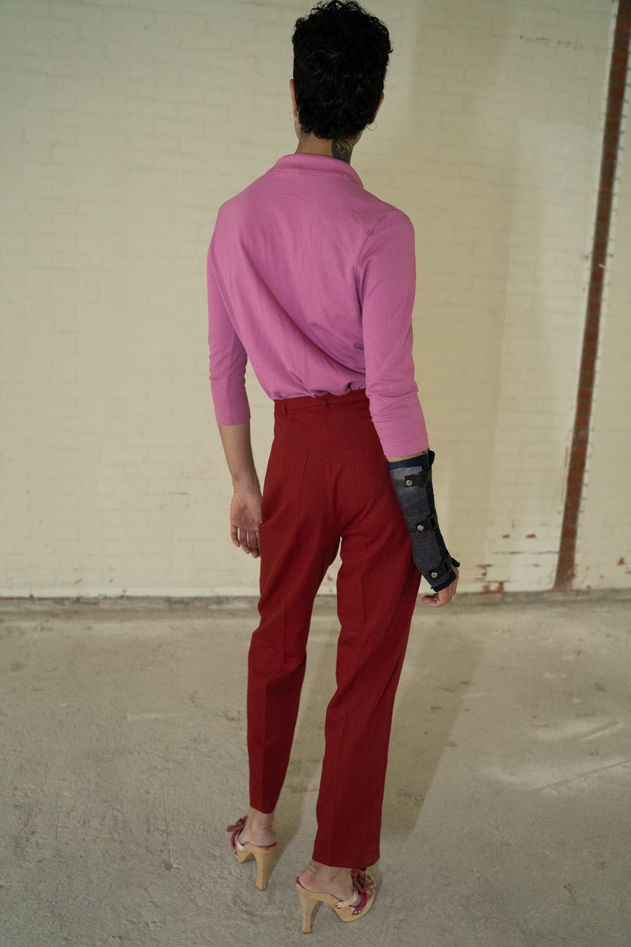 Image of 'Labod' Red Trousers 100% Wool