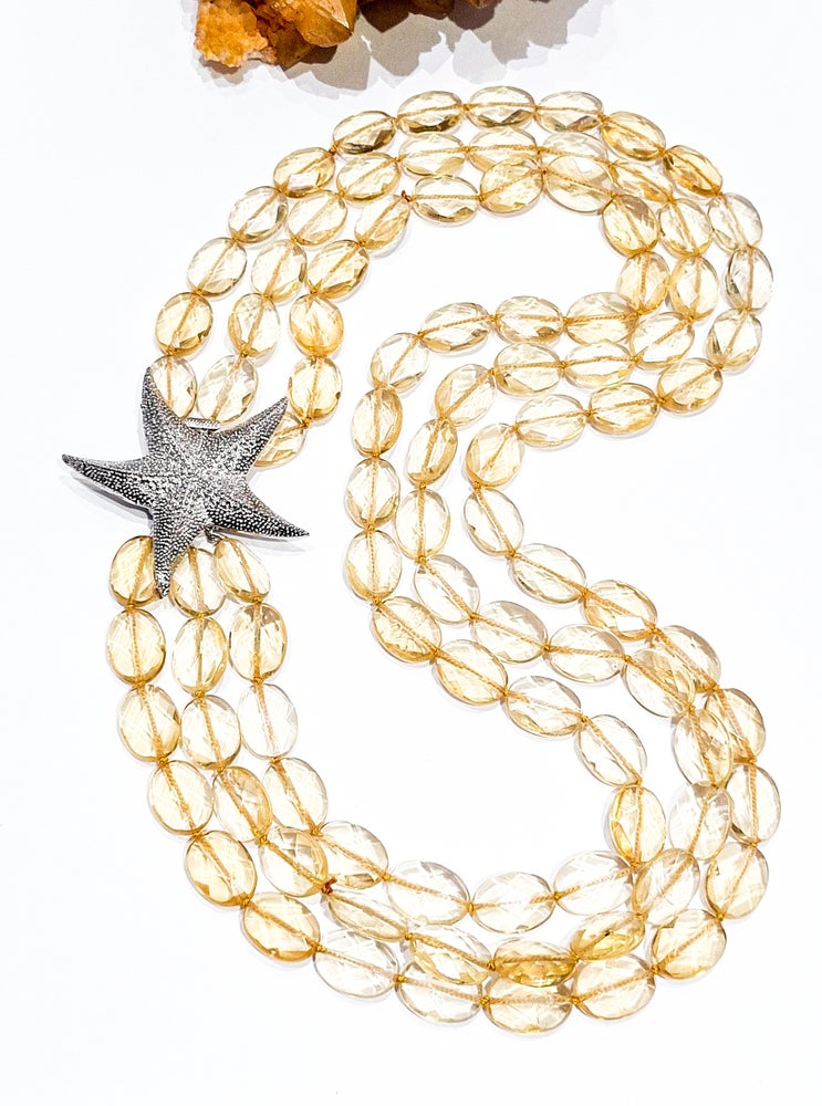 Image of Citrine Starfish Statement Necklace