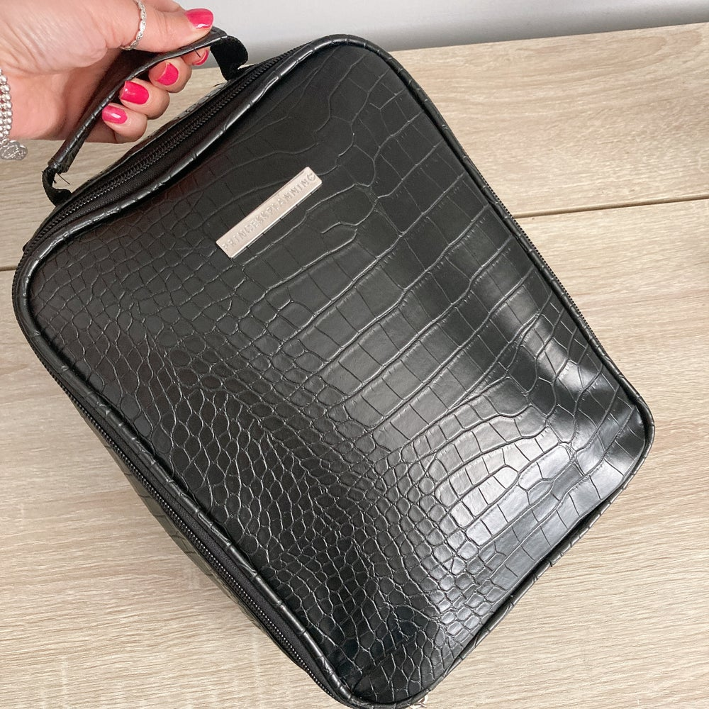 Image of NEW Brittany Black Croco lunch bag