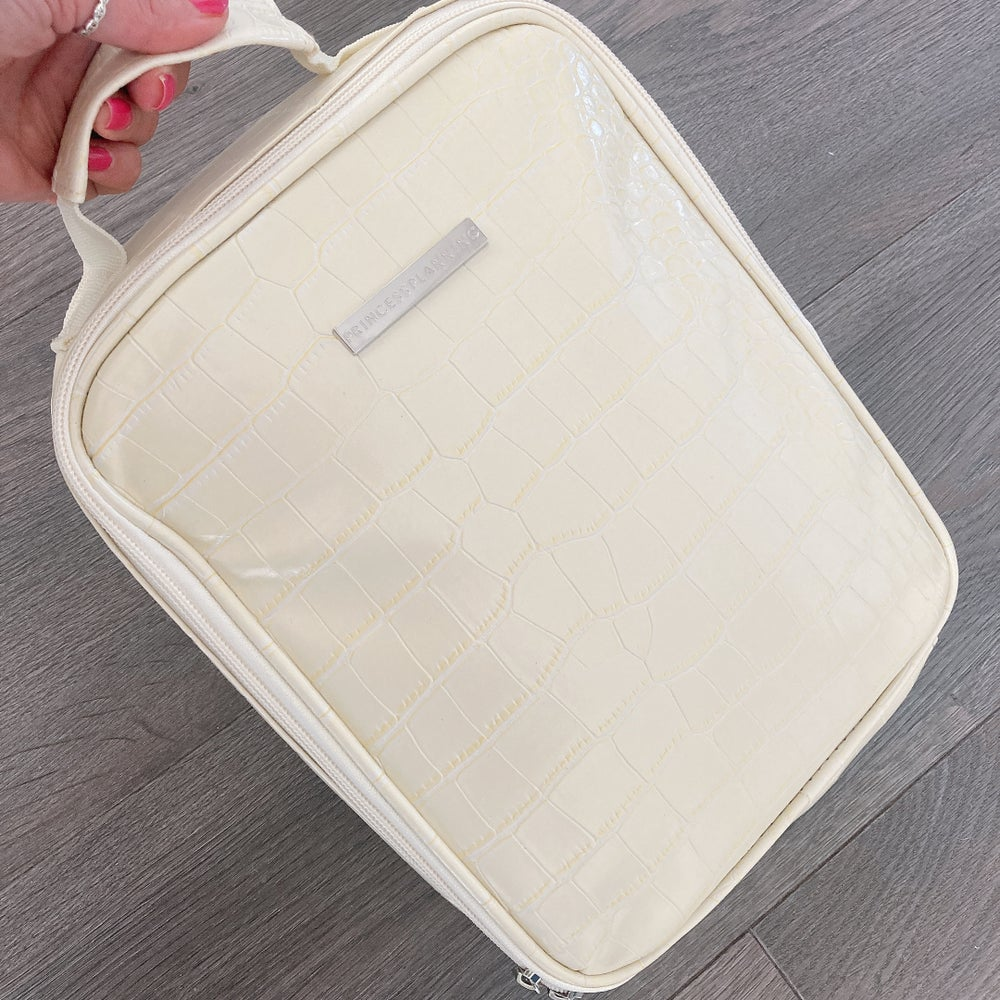 Image of NEW CARA CREAM CROCO INSULATED LUNCH BAG