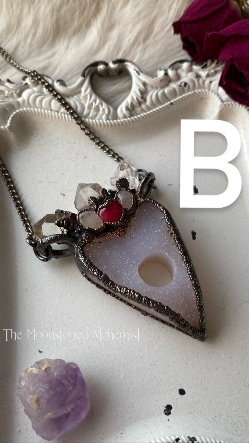 Image of Crystal Crowned Planchette Amulets