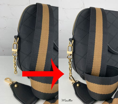 Image of Strap Extender for LV & more - Large Clip for Bags with Thick Hardware - Heavy Duty Gold-tone Chain