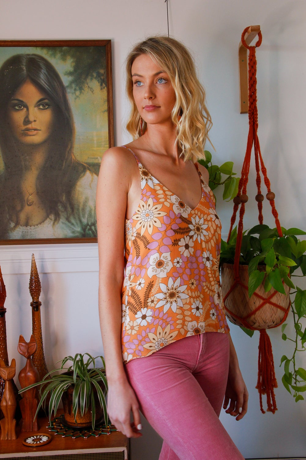 Little darlin' Cami in Autumn Leaves LIlac