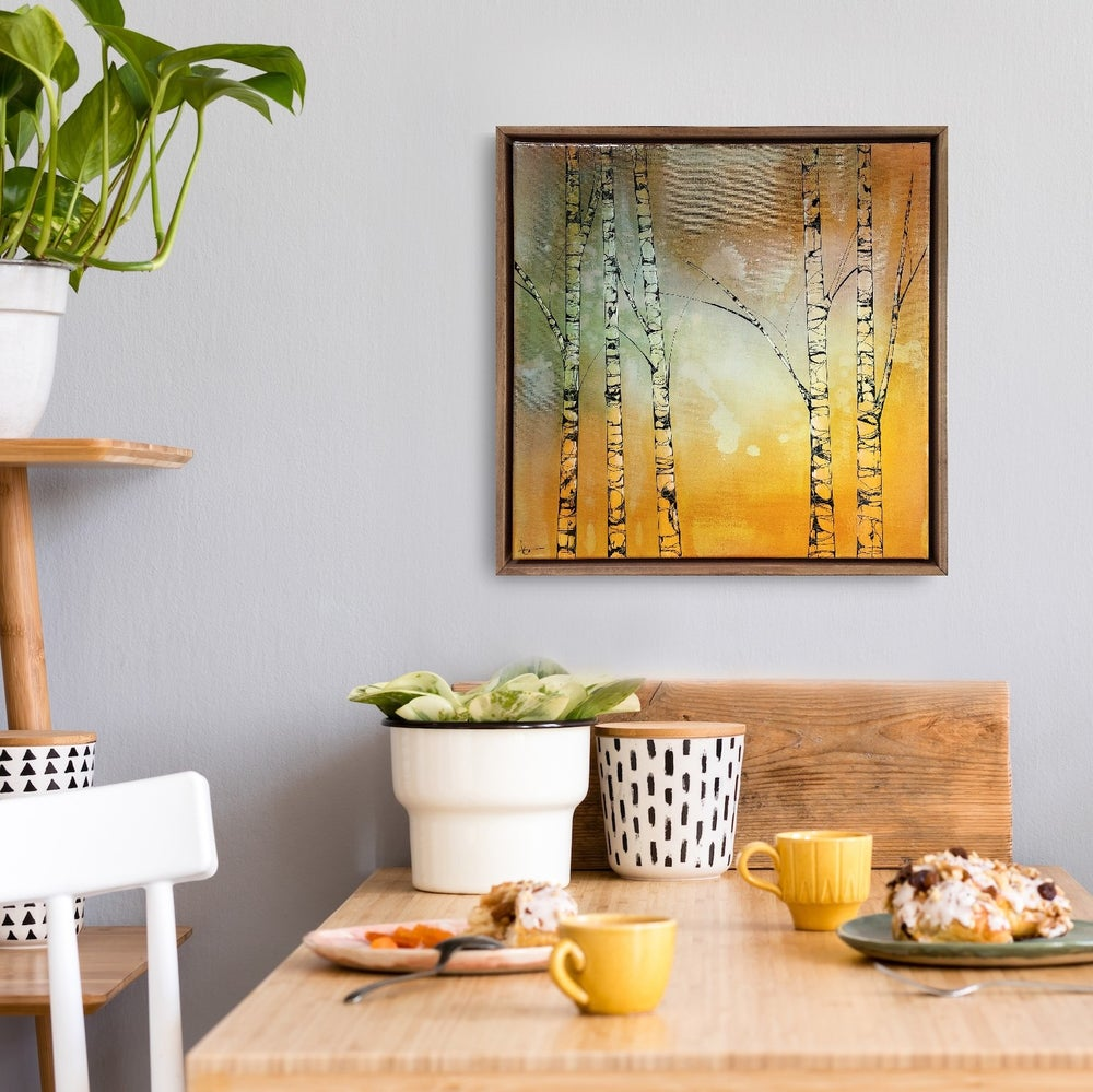 "Image of Original Canvas - Five Birches - 20"" x 20"""