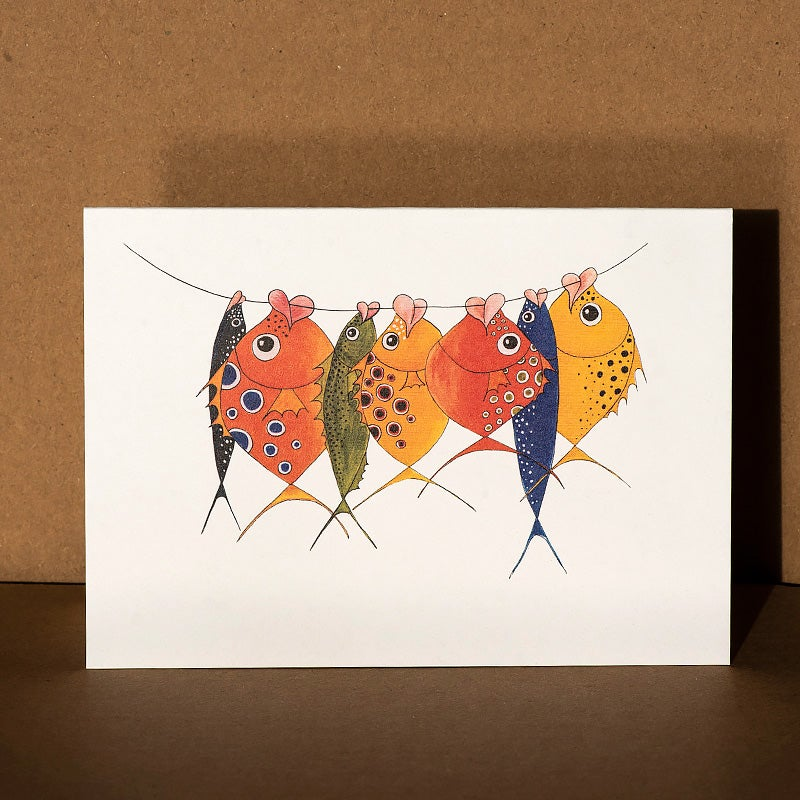 Image of Greeting card - More Happy Fish