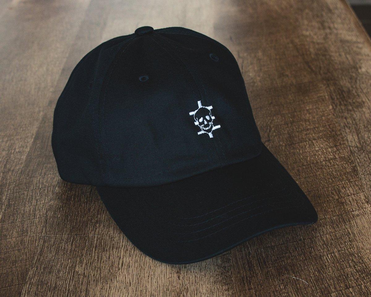 Skull Logo Dad Cap - Black